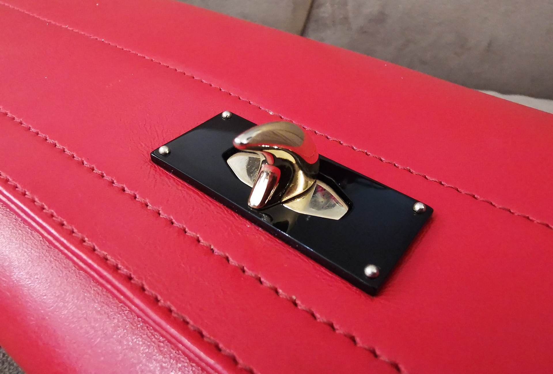 Pochette Givenchy Rouge Fermoir