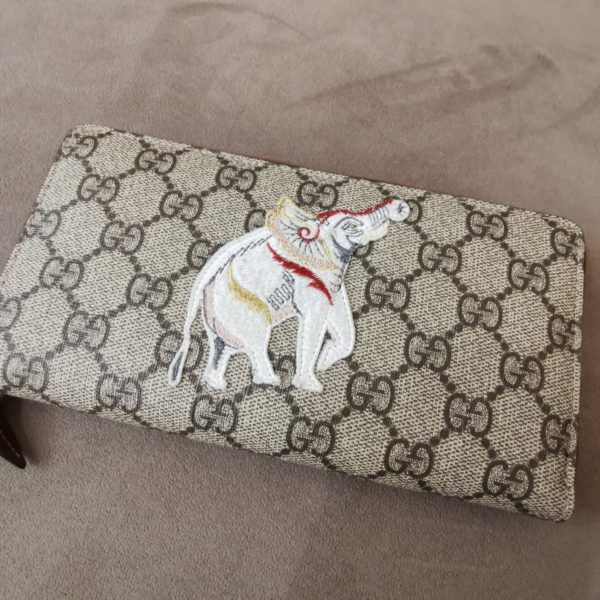 Portefeuille Gucci Elephant India Entier
